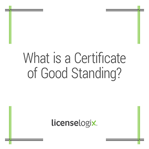 What is a certificate of good standing