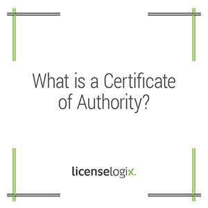 What is a certificate of authority