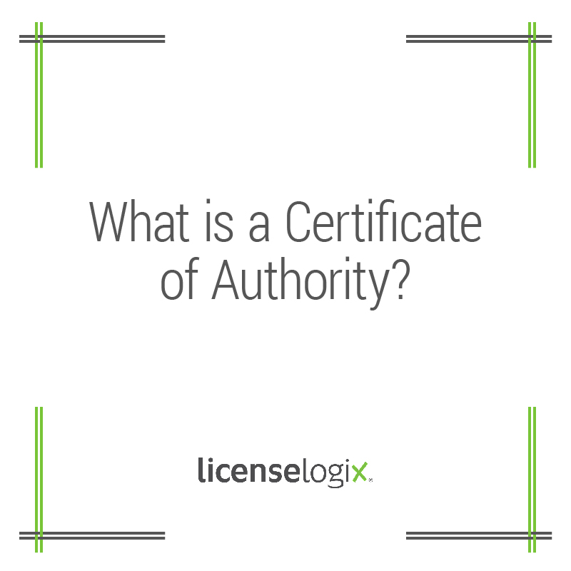 What is a Certificate of Authority?