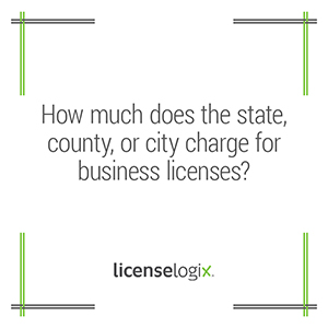 How much does the state county or city charge for a business license