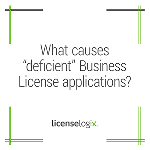 What causes deficient business license applications