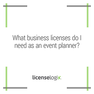Business licenses for event planner