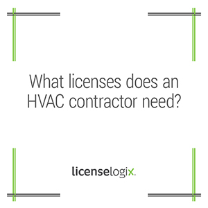 What licenses does an HVAC contractor need