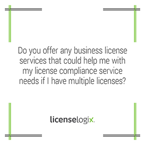 Does LicenseLogix offer business license compliance services for multiple licenses