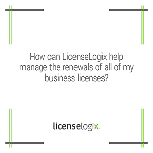 How can LicenseLogix help manage business license renewals