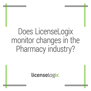 Does LicenseLogix monitor changes in the pharmaceutical industry
