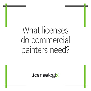 What business licenses do commercial painters need