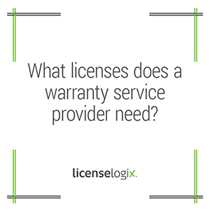 What licenses does a warranty service provider need