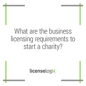 What are the business licensing requirements for a charity