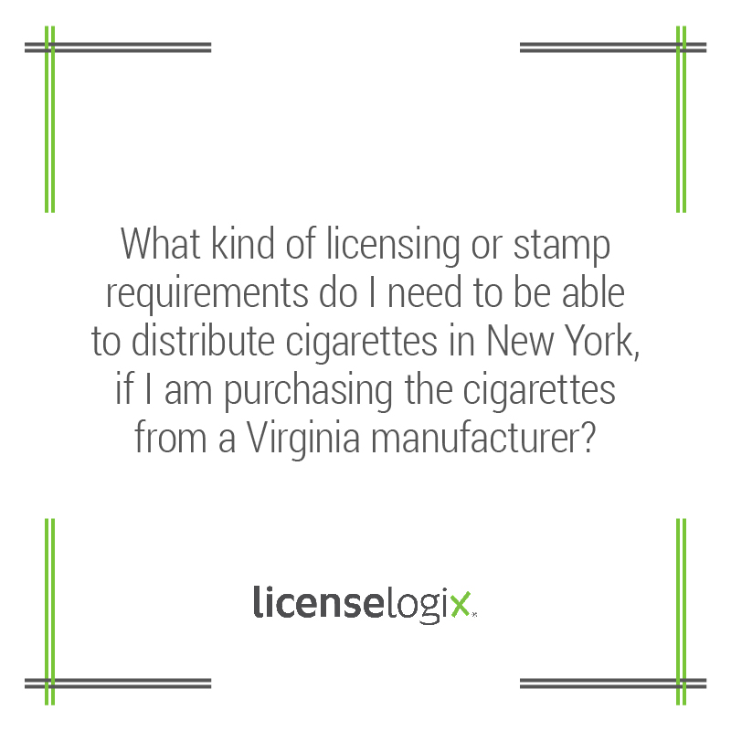 What are the licensing/stamp requirements to distribute