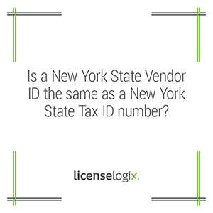 Is New York Vendor ID the same as a State Tax ID number