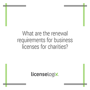 What are the renewal requirements for charity business licenses
