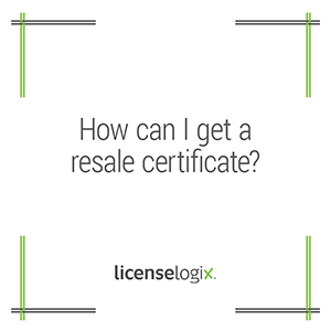 How to get a resale certificate