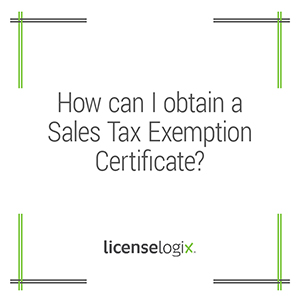 How can I get a sales tax exemption certificate