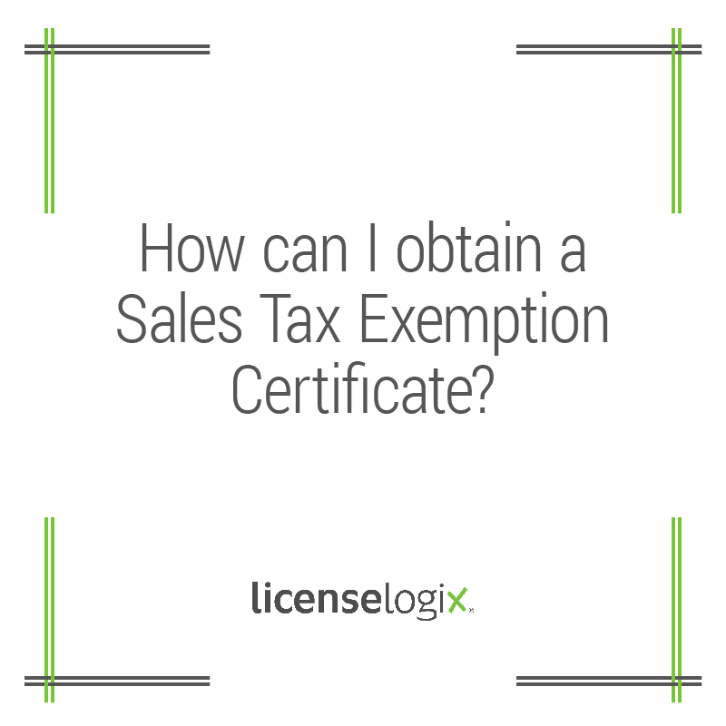 What Is A Sales Tax Exemption Certificate And How Do I Get