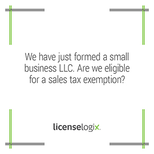 Is a small business LLC eleigible for a sales tax exemption