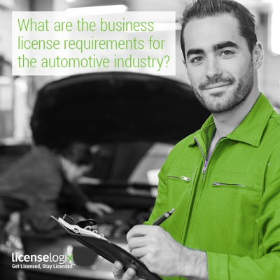 What are the business license requirements for the automotive industry